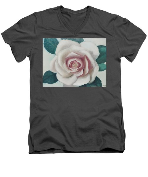 Pinky Flower Men's V-Neck T-Shirt