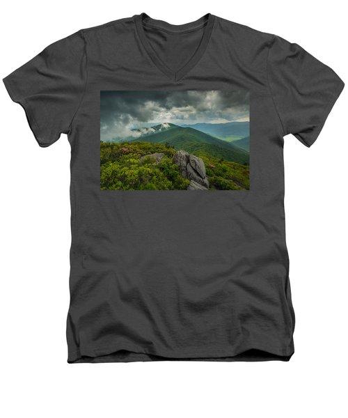 Men's V-Neck T-Shirt featuring the photograph Pinnacle by Joye Ardyn Durham