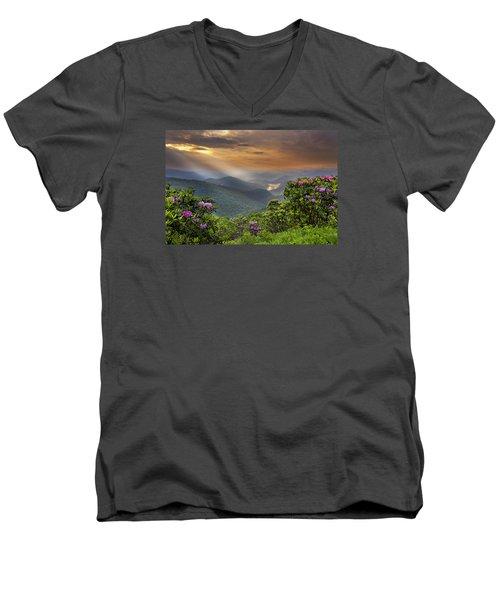 Pinnacle Sunset  Men's V-Neck T-Shirt