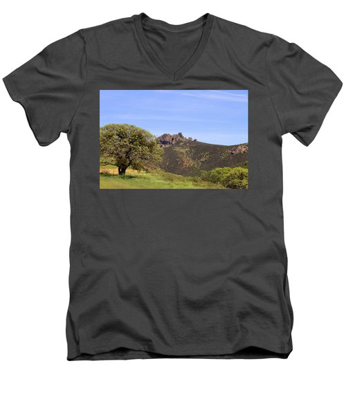 Men's V-Neck T-Shirt featuring the photograph Pinnacles Vista by Art Block Collections