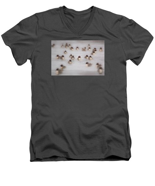 Pintail Repeat  Men's V-Neck T-Shirt by Kelly Marquardt