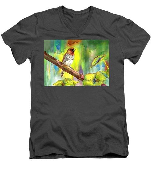 Pinzon Canella Men's V-Neck T-Shirt by Janet Garcia