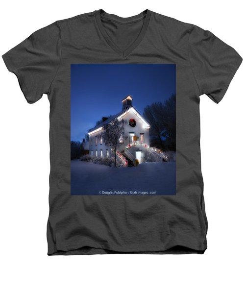 Pioneer Chapel At Christmas Men's V-Neck T-Shirt