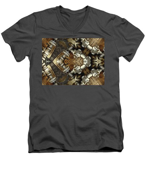 Pipe Dreams Men's V-Neck T-Shirt by Wendy J St Christopher