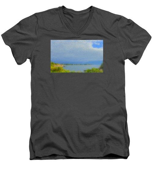 Pirate Cove Jamestown Ri Men's V-Neck T-Shirt