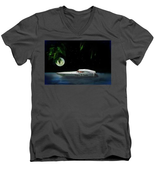 Pirate Racing Men's V-Neck T-Shirt by Michael Cleere