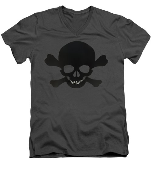 Pirate Skull And Crossbones Men's V-Neck T-Shirt