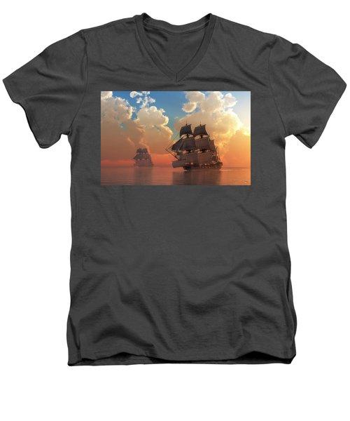 Pirate Sunset Men's V-Neck T-Shirt
