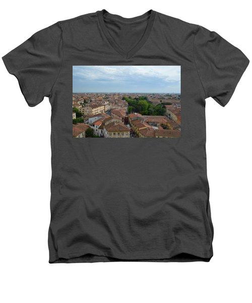 Pisa From Above Men's V-Neck T-Shirt