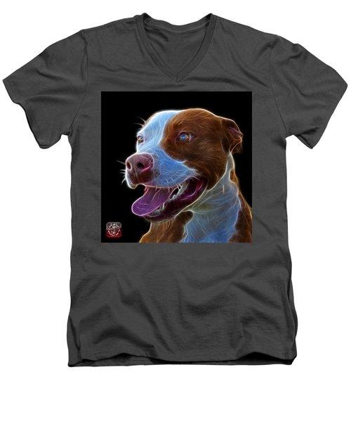 Pit Bull Fractal Pop Art - 7773 - F - Bb Men's V-Neck T-Shirt