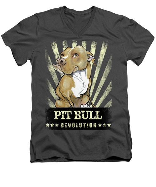 Pit Bull Revolution Men's V-Neck T-Shirt