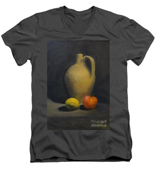 Pitcher This Men's V-Neck T-Shirt by Genevieve Brown