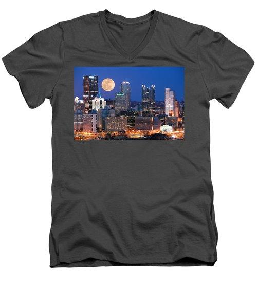 Pittsburgh 6 Men's V-Neck T-Shirt by Emmanuel Panagiotakis