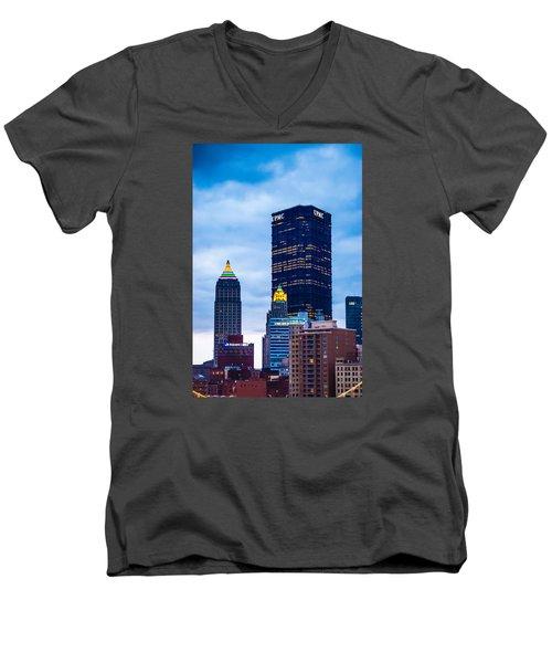 Pittsburgh - 7012 Men's V-Neck T-Shirt by G L Sarti