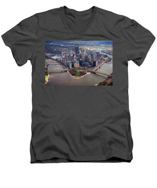 Pittsburgh 8 In Color  Men's V-Neck T-Shirt