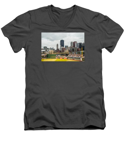 Pittsburgh/pnc Park - 6986 Men's V-Neck T-Shirt by G L Sarti