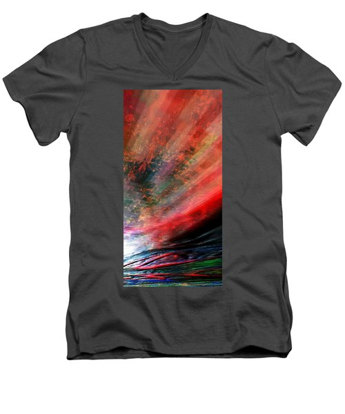 Men's V-Neck T-Shirt featuring the digital art Pittura Digital Ghibill25e by Sheila Mcdonald