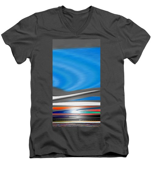 Men's V-Neck T-Shirt featuring the digital art Pittura Digital by Sheila Mcdonald