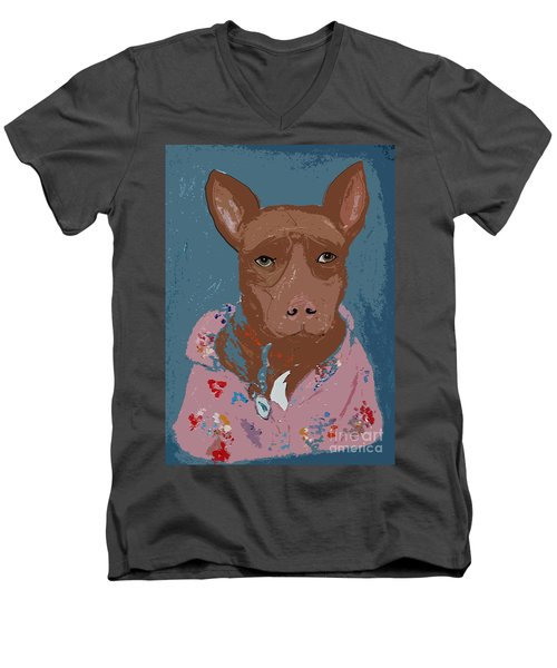 Pitty In Pajamas Men's V-Neck T-Shirt