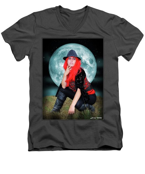 Pixie Under A Blue Moon Men's V-Neck T-Shirt