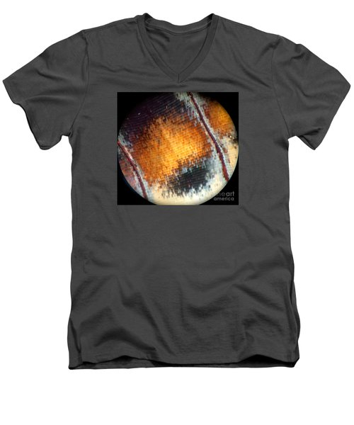 Pixilated Color Men's V-Neck T-Shirt