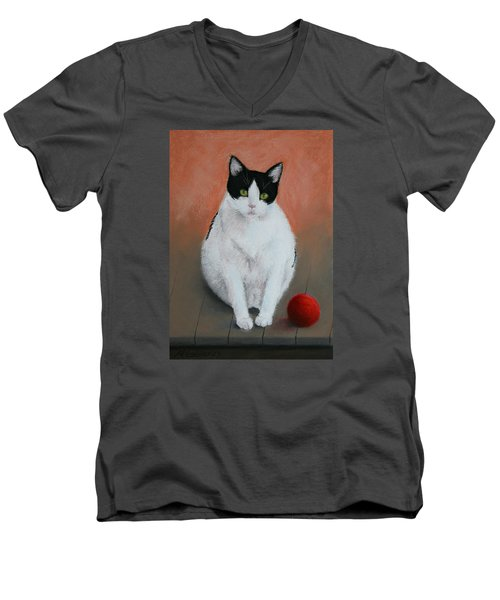 Pj And The Ball Men's V-Neck T-Shirt