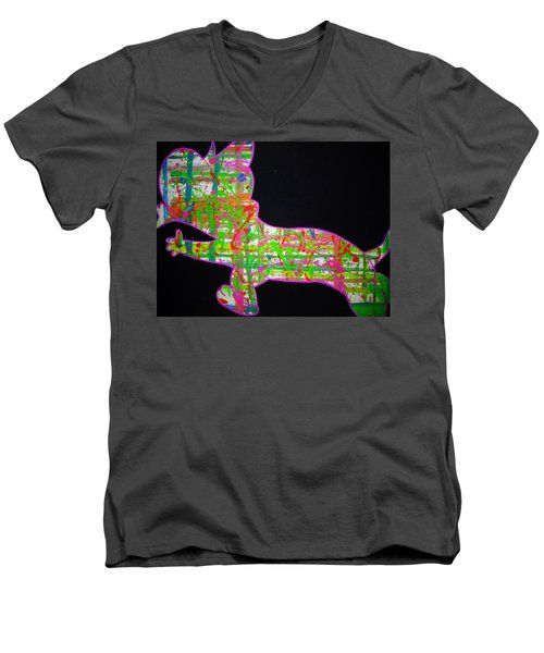 Plaid Men's V-Neck T-Shirt