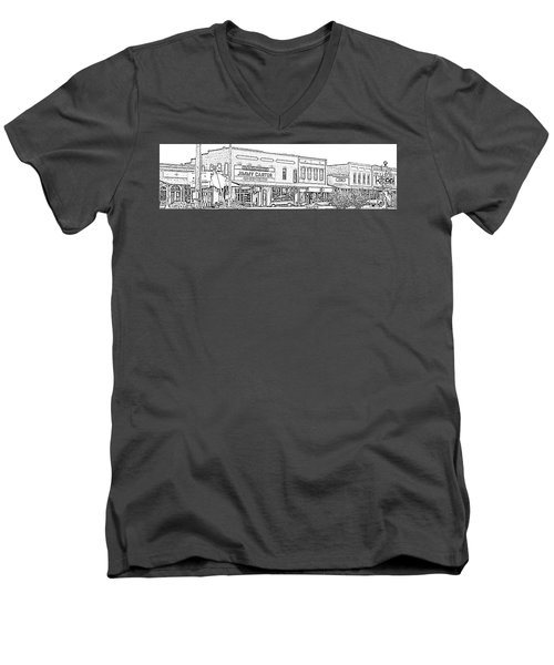 Plains Ga Downtown Men's V-Neck T-Shirt