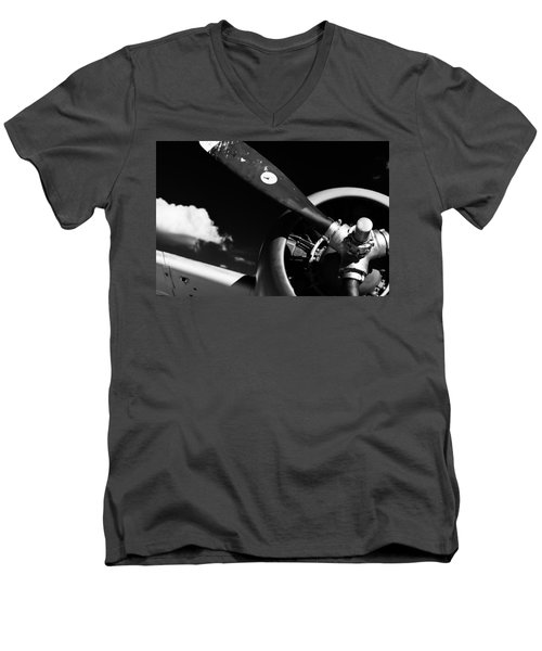Plane Portrait 1 Men's V-Neck T-Shirt by Ryan Weddle