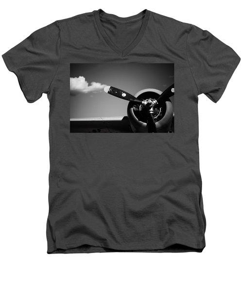 Men's V-Neck T-Shirt featuring the photograph Plane Portrait 4 by Ryan Weddle