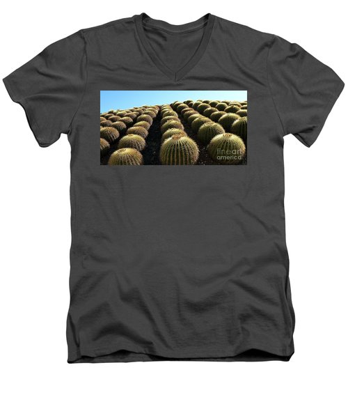 Planet Of Cactus Men's V-Neck T-Shirt by Anna  Duyunova