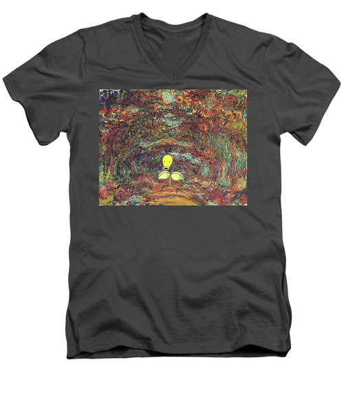Men's V-Neck T-Shirt featuring the digital art Planet Pokemonet  by Greg Sharpe