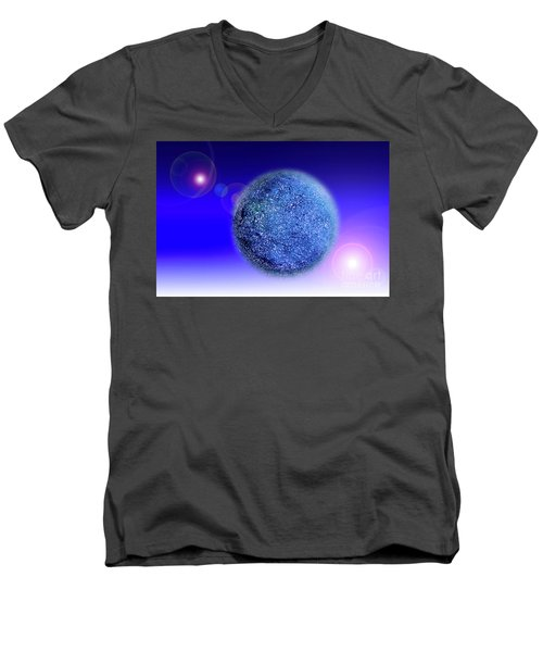 Planet Men's V-Neck T-Shirt by Tatsuya Atarashi
