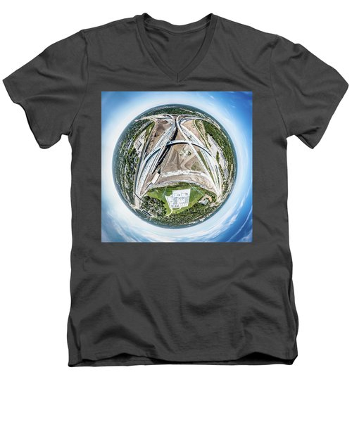Planet Under Construction Men's V-Neck T-Shirt