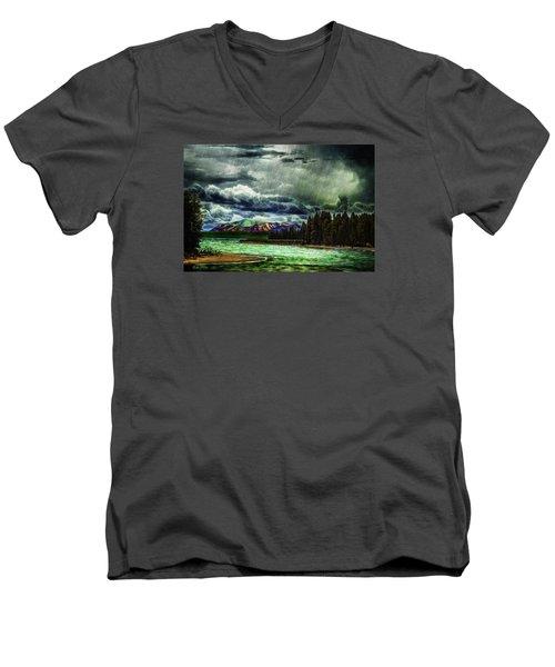 Planetary Infection Men's V-Neck T-Shirt