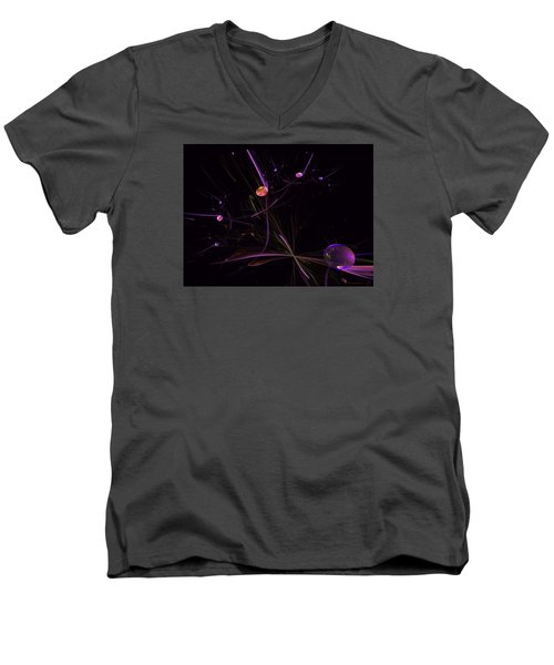Planets And Space Energies Men's V-Neck T-Shirt by Ernst Dittmar