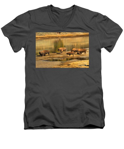 Men's V-Neck T-Shirt featuring the photograph Planning To Cross by Adam Jewell
