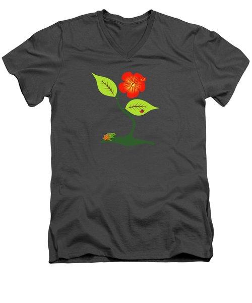 Plant And Flower Men's V-Neck T-Shirt by Gaspar Avila