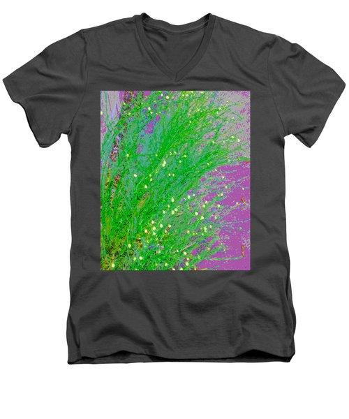 Men's V-Neck T-Shirt featuring the photograph Plant Design by Lenore Senior
