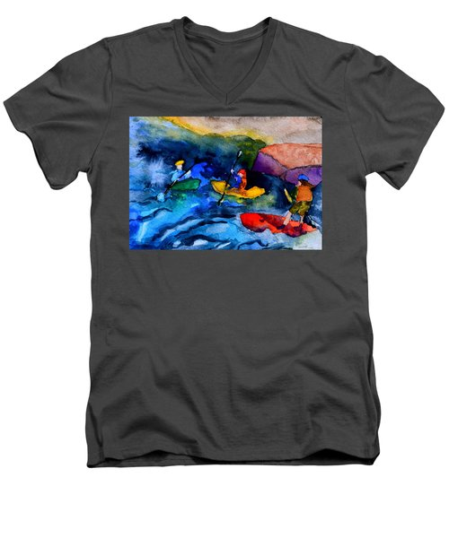 Platte River Paddling Men's V-Neck T-Shirt