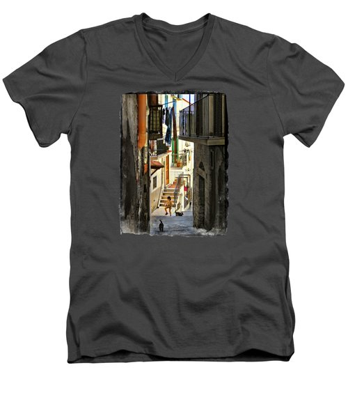 Play Day In Vieste.italy Men's V-Neck T-Shirt