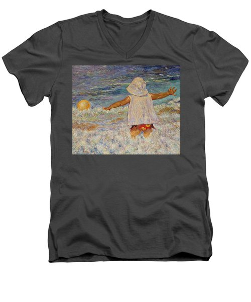 Play Men's V-Neck T-Shirt