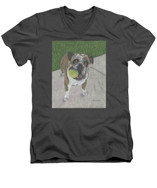 Play With Me Men's V-Neck T-Shirt by Arlene Crafton
