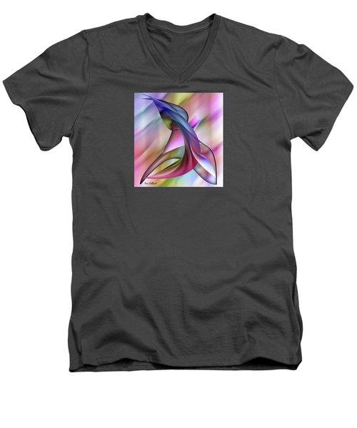 Playful Abstract  Men's V-Neck T-Shirt by Iris Gelbart