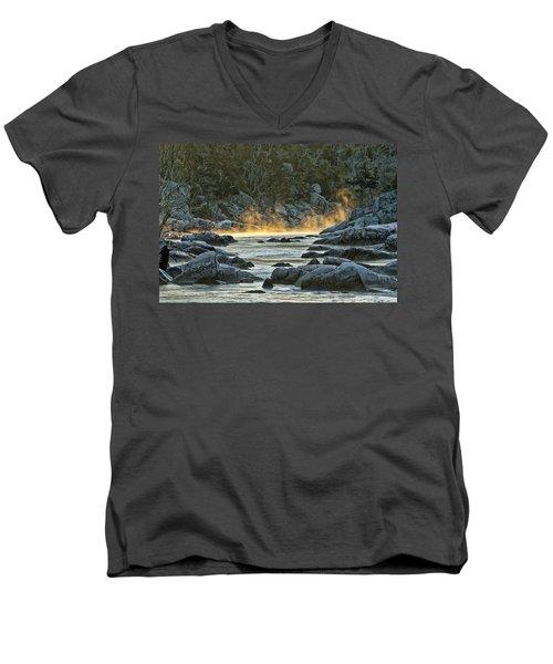 Playfull Mist Men's V-Neck T-Shirt by Robert Charity