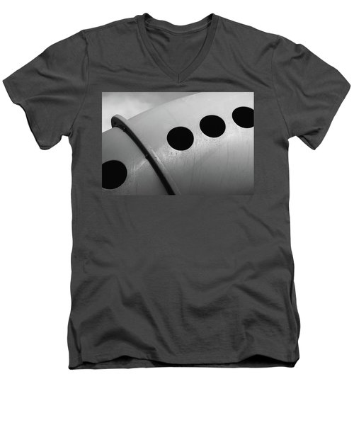 Men's V-Neck T-Shirt featuring the photograph Playground Bridge by Richard Rizzo