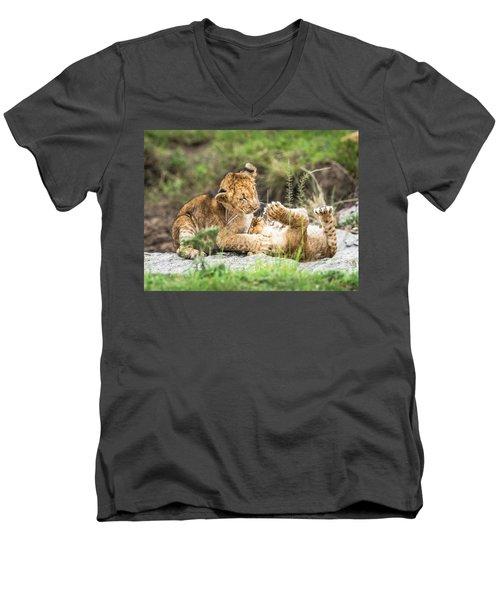 Playing Around Men's V-Neck T-Shirt