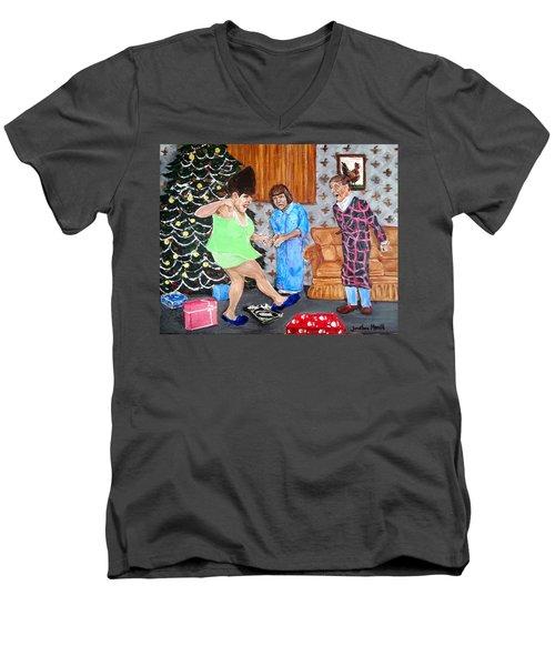 Please Dawn Not On Christmas Men's V-Neck T-Shirt