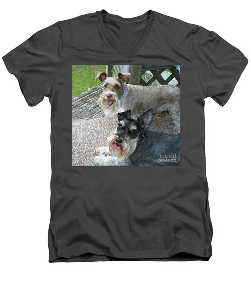 Please Help Us Catch That Squirrel Men's V-Neck T-Shirt by Carol  Bradley