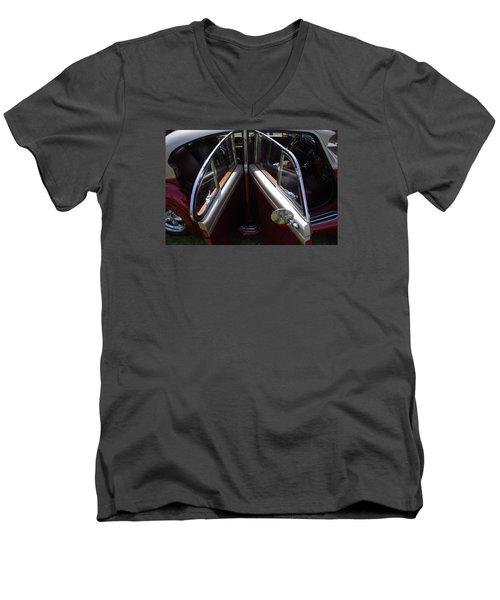 Please Take A Seat... Men's V-Neck T-Shirt by John Schneider